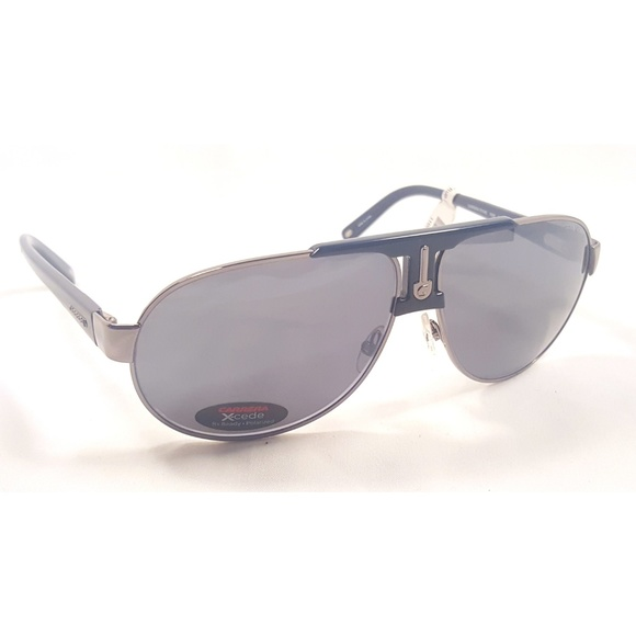 New Authentic Carrera 130//S KJ1 Dark Ruthenium Polarized Men/'s Pilot Sunglasses